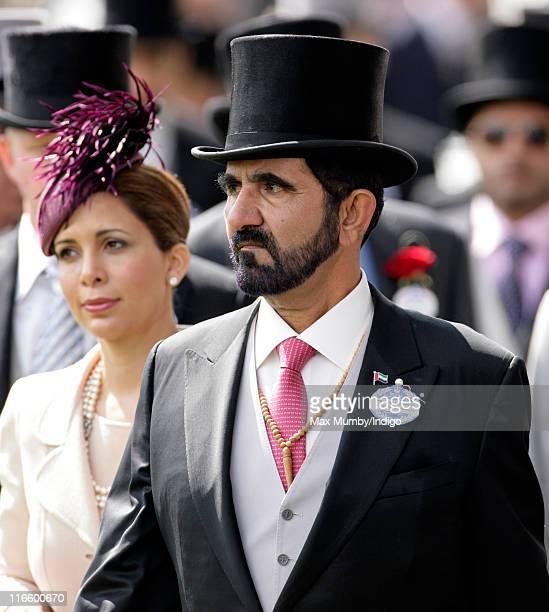 Princess Haya Bint Al Hussein and Sheikh Mohammed Bin Rashid Al Maktoum attend day 3 'Ladies Day' of Royal Ascot at Ascot Racecourse on June 16 2011...