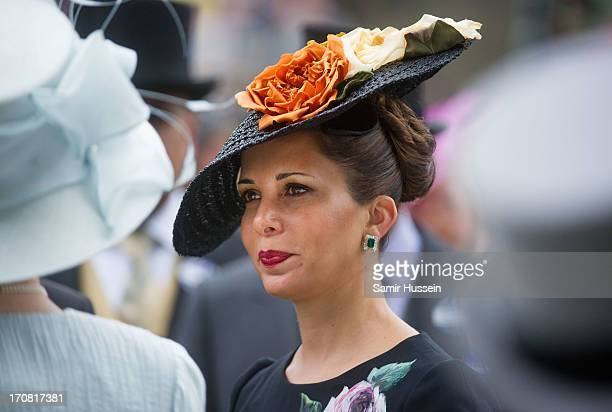 Princess Haya bint Al Hussein attends day 1 of Royal Ascot at Ascot Racecourse on June 18 2013 in Ascot England