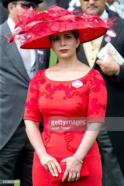 Princess Haya bint Al Hussein attends day 3 of Royal Ascot at Ascot Racecourse on June 16 2016 in Ascot England