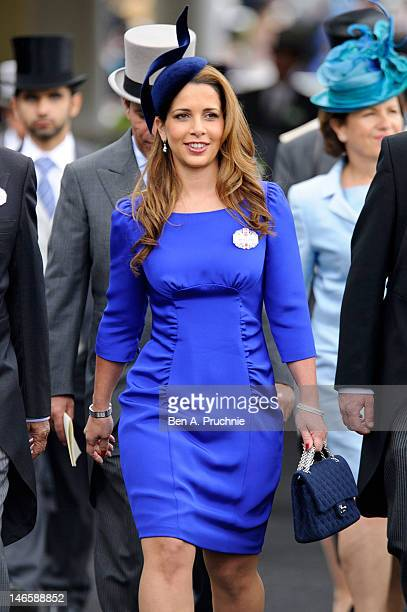 Princess Haya bint Al Hussein attends day two of Royal Ascot at Ascot Racecourse on June 20 2012 in Ascot England