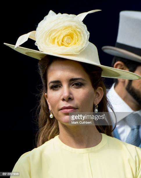 Princess Haya Bint Al Hussein attends Derby day at Epsom Derby festival at Epsom Downs on June 3 2017 in Epsom England