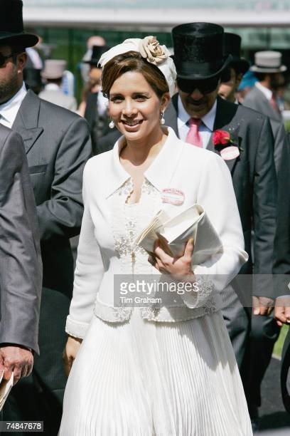 Princess Haya bint al Hussein attends Ladies Day of Royal Ascot Races on June 21 2007 in Ascot England