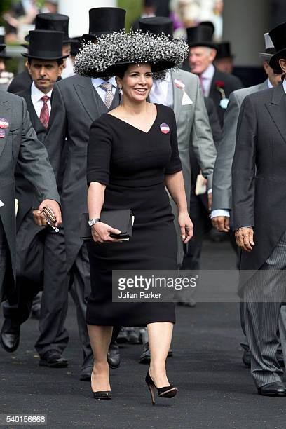 Princess Haya bint Al Hussein attends the first day of The Royal Ascot race meeting on June 14 2016 in Ascot England
