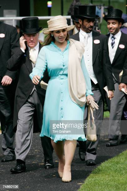Princess Haya Bint Al Hussein attends the fourth day of Royal Ascot Races with her husband on June 22 2007 in Ascot Berkshire England