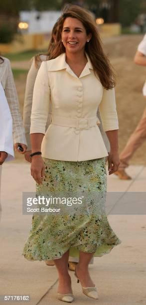 Princess Haya Bint Al Hussein of Jordan the wife of the Ruler of Dubai Crown Prince Sheikh Mohammed Bin Rashid Al Maktoum arrives during the...