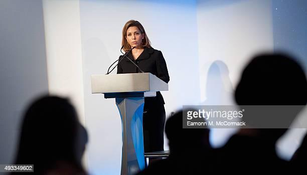 Princess Haya Bint Al Hussein speaks at the Beyond Sport Summit on October 19 2015 in London England