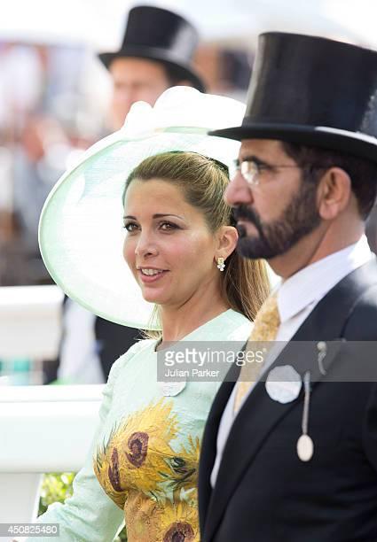 Princess Haya bint Al HusseinSheikh Mohammed Bin Rashid Al Maktoum attend Day 2 of Royal Ascot at Ascot Racecourse on June 18 2014 in Ascot England