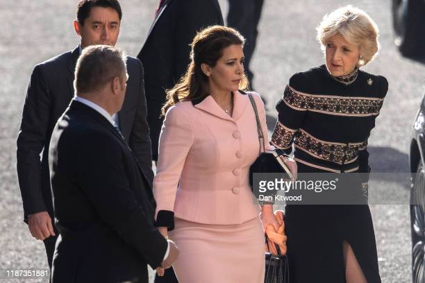 Princess Haya Bint alHussein arrives at the High Court with her lawyer Fiona Shackleton on November 13 2019 in London England Princess Haya has...