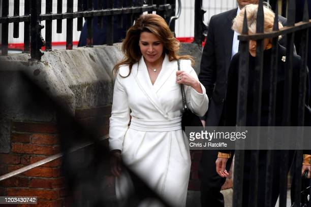 Princess Haya Bint alHussein arrives with her lawyer Fiona Shackleton at the High Court on February 26 2020 in London England Princess Haya has...