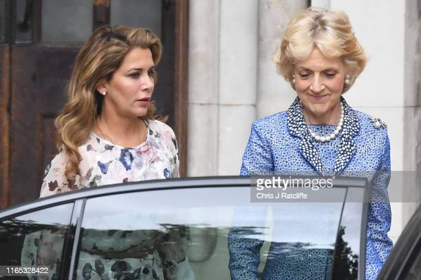 Princess Haya Bint alHussein of Jordan and lawyer Fiona Shackleton leave the High Court on July 31 2019 in London England Princess Haya Bint...