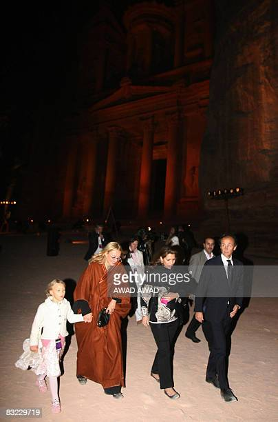 Princess Haya Bint al-Hussein of Jordan and Nicoletta Mantovani Pavarotti , wife of the late Italian Maestro Luciano Pavarotti, and their doughter...