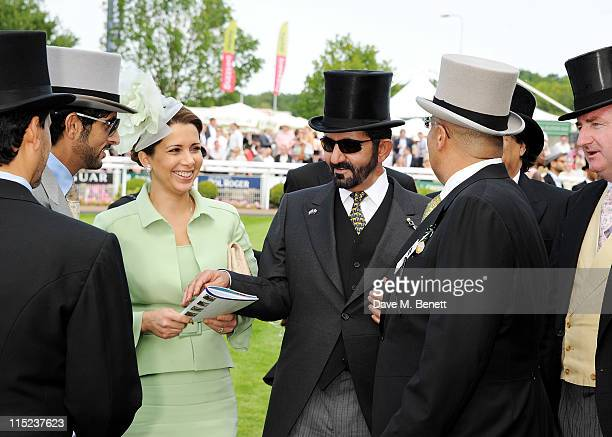 Princess Haya bint alHussein of Jordan and UAE Vice President and Prime Minister and Ruler of Dubai HH Sheikh Mohammed bin Rashid Al Maktoum attend...