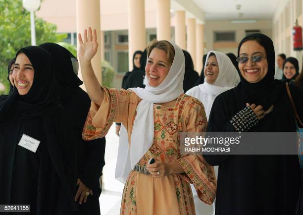 'LIFESTYLEUAEJORDANROYALS' Princess Haya bint AlHussein of Jordan and wife of Dubai's Crown Prince Sheikh Mohammad bin Rashid alMaktoum visits a...