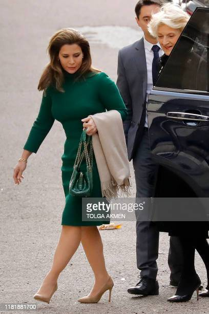 Princess Haya Bint alHussein of Jordan arrives at Britain's High Court The Royal Courts of Justice in central London on November 12 2019 Princess...