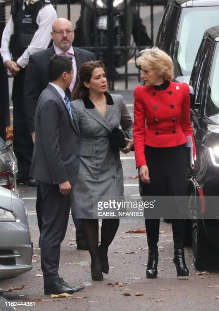 Princess Haya Bint alHussein of Jordan arrives at the Royal Courts of Justice accompanied by lawyer Fiona Shackleton in London on November 15 2019