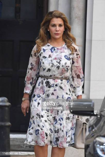 "Princess Haya Bint alHussein of Jordan leaves the High Court on July 31 2019 in London England Princess Haya Bint alHussein the sixth and ""junior""..."