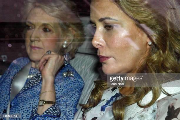 Princess Haya Bint alHussein of Jordan leaves the High Court with her lawyer Fiona Shackleton on July 31 2019 in London England Princess Haya Bint...