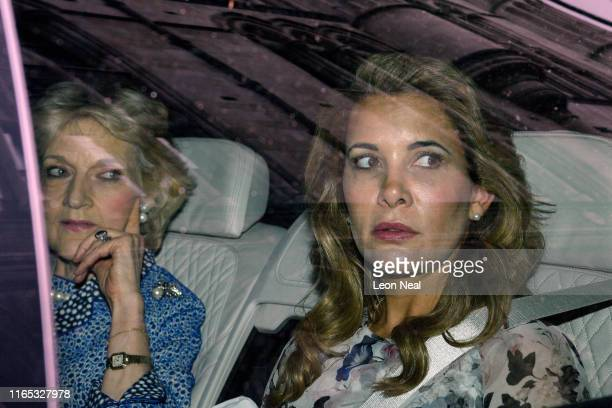Princess Haya Bint al-Hussein of Jordan leaves the High Court with her lawyer Fiona Shackleton on July 31, 2019 in London, England. Princess Haya...