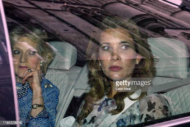 Princess Haya Bint al-Hussein of Jordan leaves the High Court with her lawyer Fiona Shackleton on July 31, 2019 in London, England. The estranged...