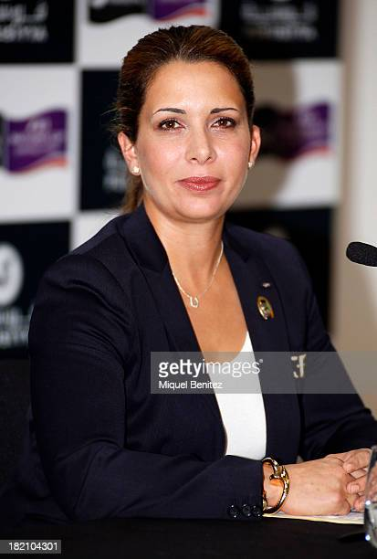 Princess Haya of Dubai during her press conference at the 'CSIO Barcelona 2013 102nd International Show Jumping' on September 28 2013 in Barcelona...