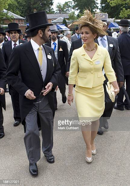Princess Haya Of Jordan And Sheikh Mohammed Bin Rashid Al Maktoum On Day Two Of Royal Ascot In Berkshire