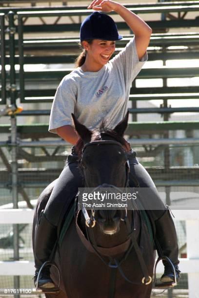 Princess Haya of Jordan is seen during a training ahead of the Asian Games on September 26 1994 in Hiroshima Japan
