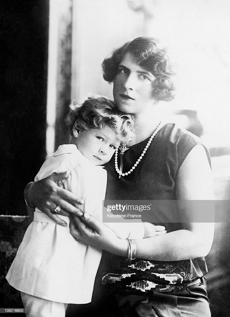 Princess Helen Of Romania And Her Son, Prince Michael Around 1925 : News Photo
