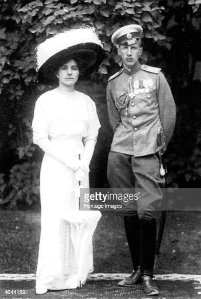 Princess Helen of Serbia with her husband Prince John Constantinovich of Russia, c1915. Princess Helen of Serbia was the daughter of King Peter I of...