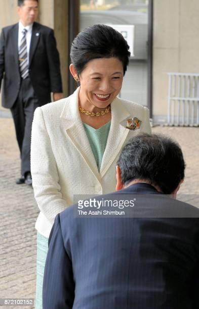Princess Hisako of Akishino is seen on arrival at the Nara National Museum for the Shosoin Treasure House exhibition on November 9 2017 in Nara Japan