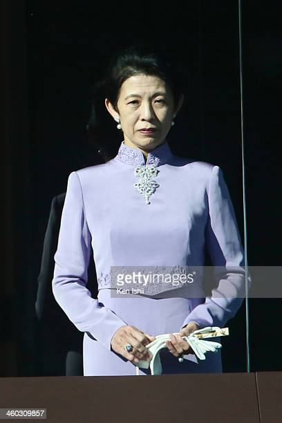 Princess Hisako of Takamado attends celebrations for the New Year on the veranda of the Imperial Palace on January 2 2014 in Tokyo Japan In his...