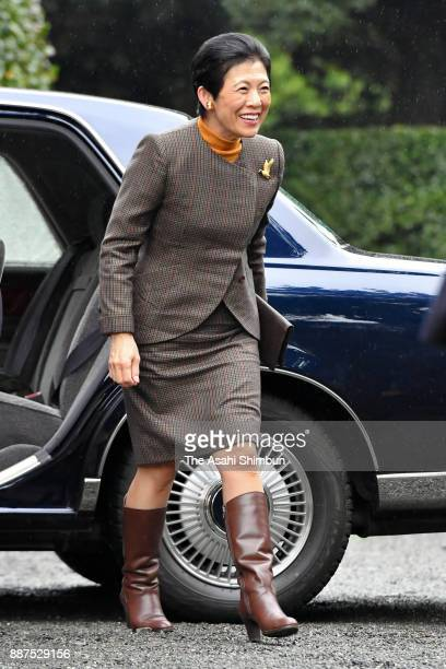 Princess Hisako of Takamado is seen on arrival as foreign deplomats are invited at the Shinhama Kamoba on December 1 2017 in Ichikawa Chiba Japan