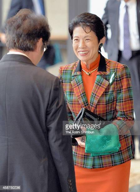 Princess Hisako of Takamado is seen upon arrival at the Nara National Museum on November 9 2014 in Nara Japan