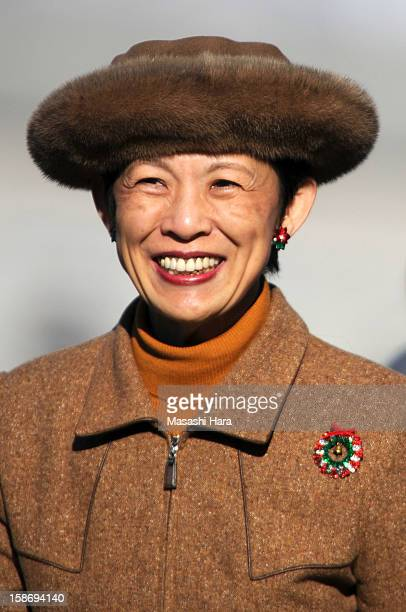 Princess Hisako Takamado looks on prior to the 34th Empress's Cup All Japan Women's Football Tournament final match between INAC Kobe Leonessa and...