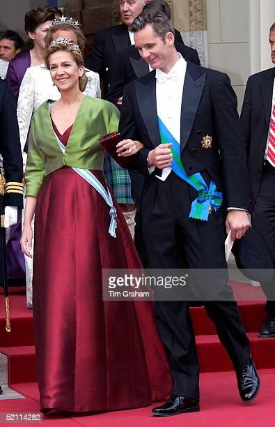 Princess Infanta Cristina Of Spain And Husband Inaki At The Wedding Of The Crown Prince Of Denmark