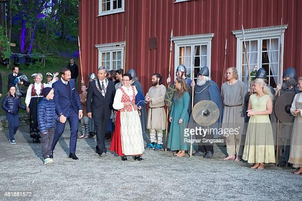 Princess Ingrid Alexandra of Norway Crown Princess MetteMarit of Norway Prince Sverre Magnus of Norway and Crown Prince Haakon of Norway attend The...