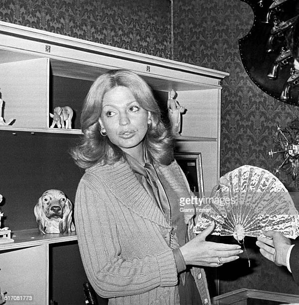 Princess Ira of Furstenberg at an art exhibition in Marbella 1970 Marbella Malaga Spain