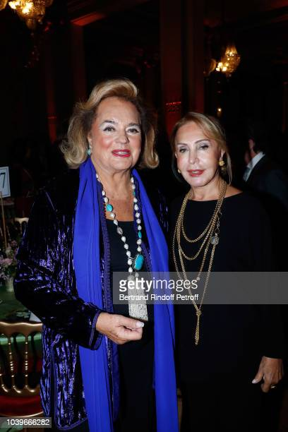 Princess Ira von Furstenberg and guest attend 'Societe des Amis du Musee D'Orsay' Dinner at Musee d'Orsay on September 24 2018 in Paris France