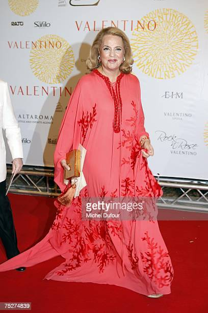 Princess Ira Von Furstenberg arrives at the Villa Borghese for a gala to celebrate Valentino's latest Fashion show and Anniversary on July 7 2007 in...