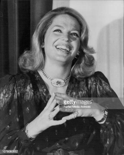 Princess Ira von Furstenberg at a press conference at the April 25 1980