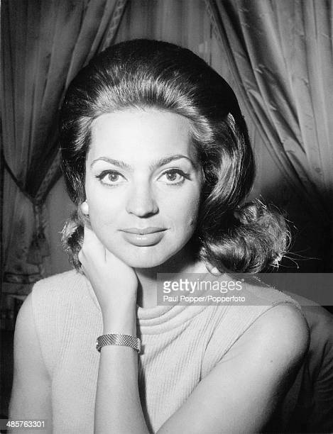 Princess Ira von Furstenberg in her Parisian home March 1966 She is about to appear in Alberto Lattuada's film 'Matchless'