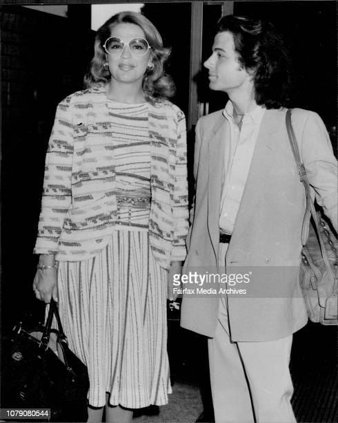 Princess Ira von Furstenberg with travelling companionAlexandre Zouari on their arrival in Sydney today The princess is in Australia to help raise...