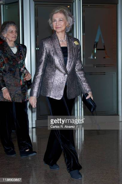 Princess Irene of Greece and Queen Sofia attend the annual concert offered by EFE agency in collaboration with Foundation Excelentia on March 28 2019...
