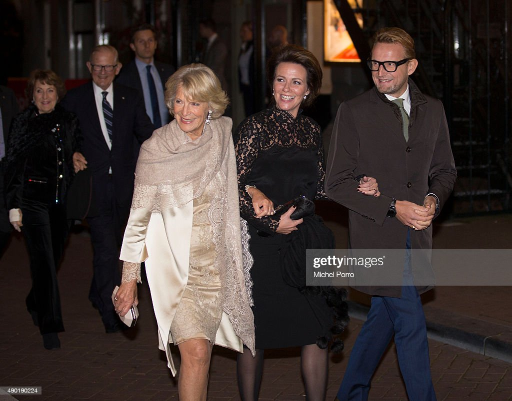 Princess Irene, Princess Annette and Prince Bernhard jr of The Netherlands leave after festivities marking the final celebrations of 200 years Kingdom of The Netherlands on September 26, 2015 in Amsterdam, Netherlands