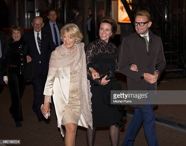 Princess Irene Princess Annette and Prince Bernhard jr of The Netherlands leave after festivities marking the final celebrations of 200 years Kingdom...
