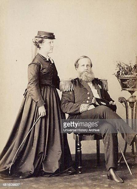 Princess Isabel and Dom Pedro II Emperor of Brazil 1870