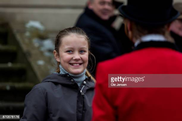 Princess Isabella during the yearly Hubertus Hunt at The Woodland Park 'Dyrehaven' on November 5 2017 in Klampenborg Denmark Some 160 riders...