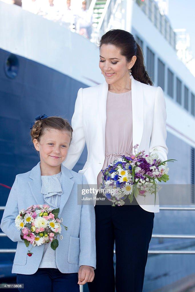 Crown Princess Mary & Princess Isabella Of Denmark Undertake Engagements On The Island Of Samso : News Photo