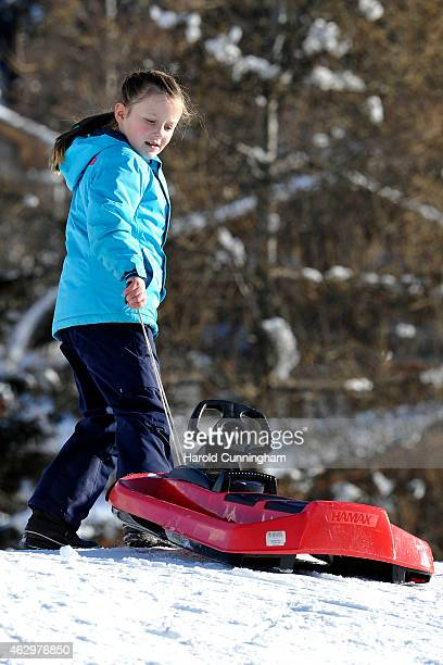 Princess Isabella of Denmark attends the Danish Royal family annual skiing photocall whilst on holiday on February 8 2015 in Verbier Switzerland
