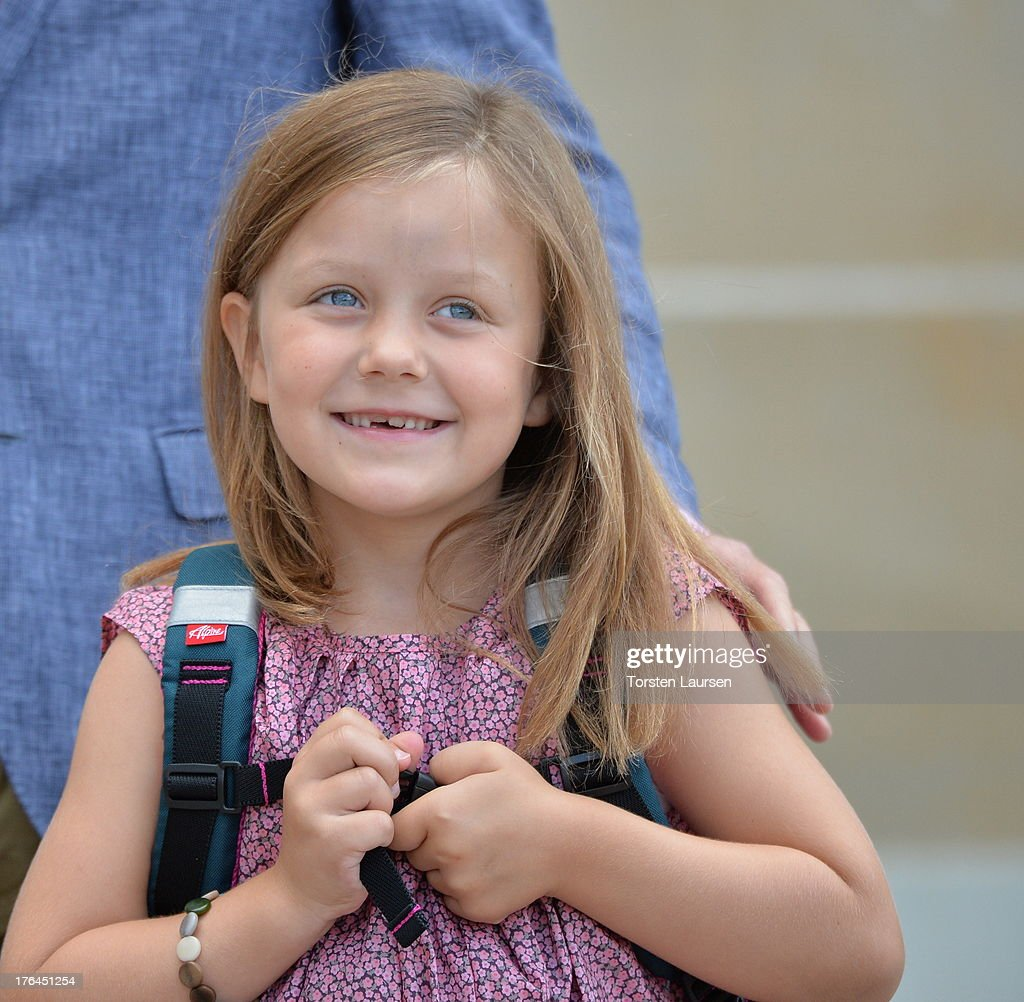 Princess Isabella Of Denmark Departs Amalienborg Palace For Her First Day At School : News Photo