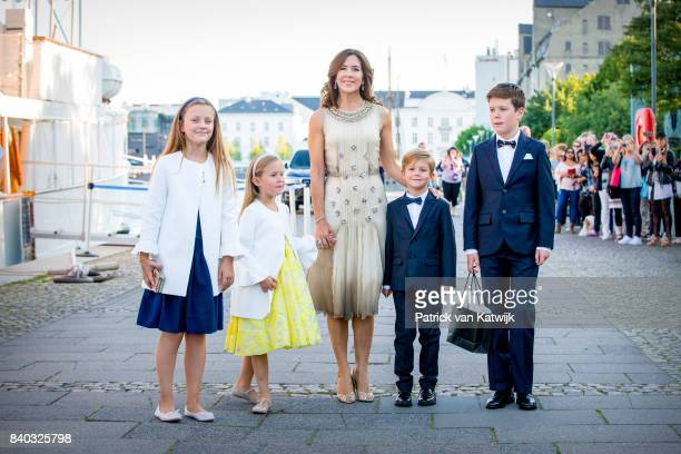 Princess Isabella of Denmark, Princess Josephine of Denmark, Crown princess Mary of Denmark, Prince Vincent of Denmark and Prince Christian of...
